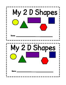 Color 2 D Shape Book