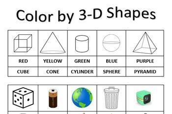Color by Shape 3-D Shapes