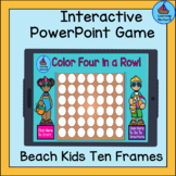 Color 4 Circles in a Row PowerPoint Game 10 Frames 1 - 10