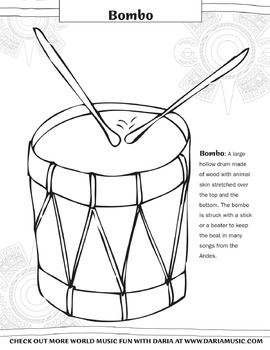 Color A Bombo -  A Drum From The Andes
