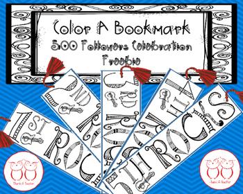 Color A Bookmark Freebie