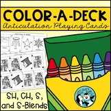 Color-A-Deck:  Articulation Playing Cards for S Blends, S, SH, and CH