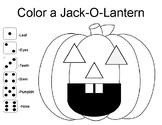 Color A Jack-O-Lantern