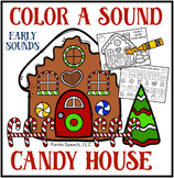 Color A Sound Candy House! Early Targets! Speech Therapy Activity