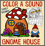 Color A Sound Gnome House! Early Targets! Speech Therapy Activity