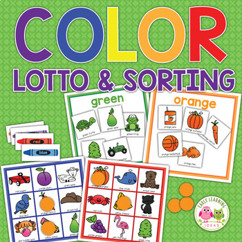 Color Activities | Color Lotto Game and Sorting Activity for ...