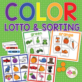 Color Activities | Color Lotto Game and Sorting Activity f