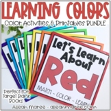 Toddler & Preschool Busy Books: Color Learning Activities and Printables BUNDLE