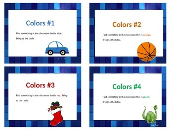 Color Activity Cards