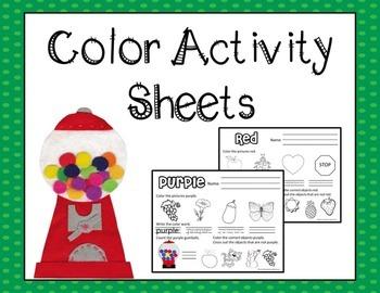 Color Activity Sheets