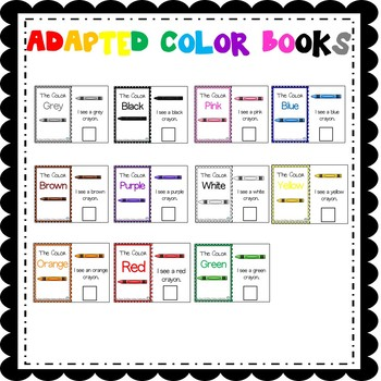 Color Adapted Books (sped/autism/elementary)