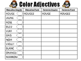 Color Adjectives Chart