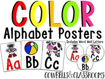 Color Alphabet Posters