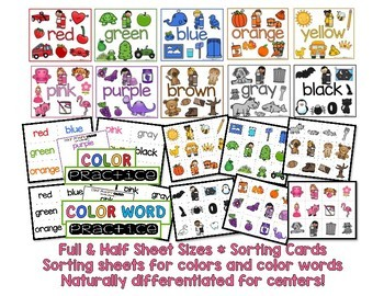 Color Anchor Charts for Little Learners
