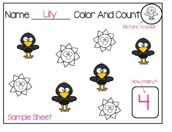 Color And Count Fall Sheets