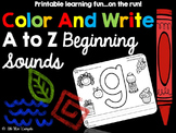 Color And Write Beginning Sounds