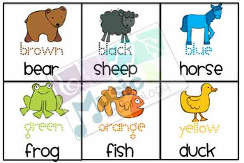 Color Animal Cards to go along with the story Brown Bear, Brown Bear (27 cards)
