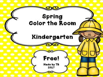 Color Around the Room Spring Freebie