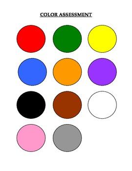 color assessment sheet c by jjallender teachers pay teachers. Black Bedroom Furniture Sets. Home Design Ideas