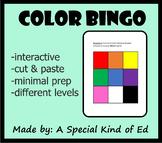 Color BINGO (differentiated and minimal prep!)