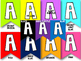 Color Banners for EVERY Letter and Numbers 0-9