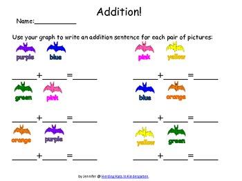 Color Bats Roll & Graph Activity