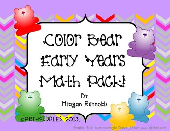 Color Bear Early Years Math Pack
