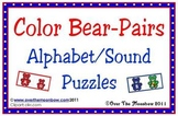 Color Bear-Pairs Alphabet & Beginning Sound Puzzles