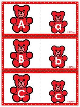 Color Bear-Pairs Alphabet & Beginning Sound Puzzles