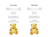 Color Bear Poem