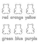 FREE Color Bears - Coloring Template