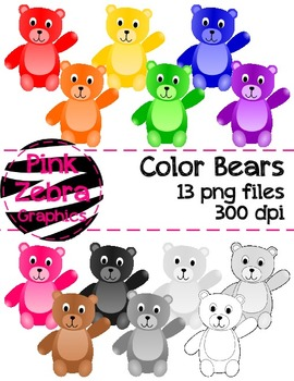 Color Bears Clipart