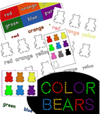 Color Bears   Interactive Binder Pages   Labels   Coloring