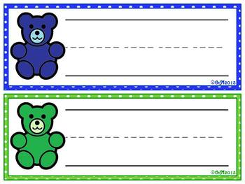 Color Bears Nameplates