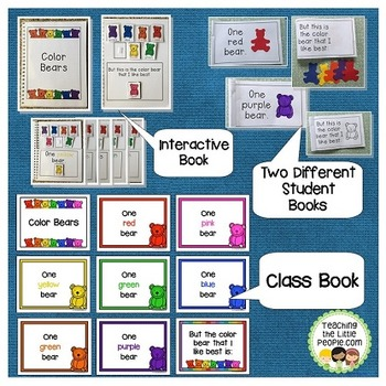 """""""Color Bears"""" Shared Reading Chart Bundle"""
