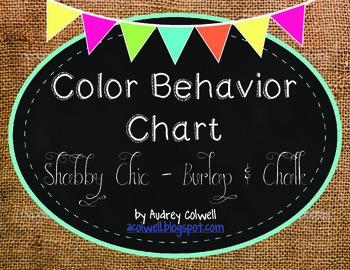 Color Behavior Chart ~ Burlap & Chalk