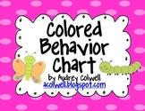 Color Behavior Chart - Caterpillars & Butterflies