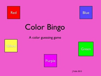 Color Bingo