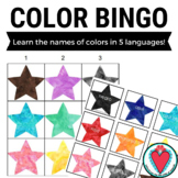 Spanish Colors Bingo Game - Learn Colors in 5 Languages