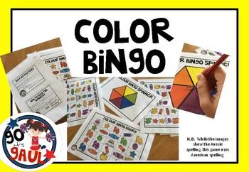 Color Bingo Game - American Spelling