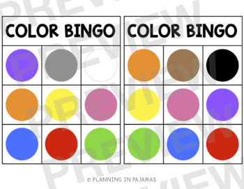 Color Bingo - FREEBIE!