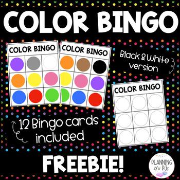 Color Bingo - FREEBIE!