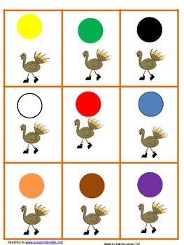 Color Bingo--Thanksgiving