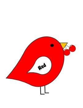 Color Bird Bulletin Board