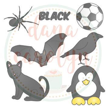 Color Black Clip Art Freebie