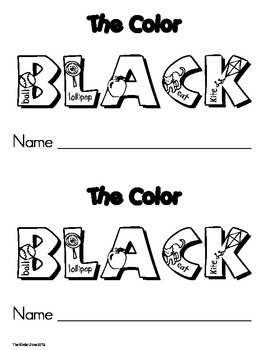 Color Black .. Emergent Leveled Reader ***Perfect for Read to Self