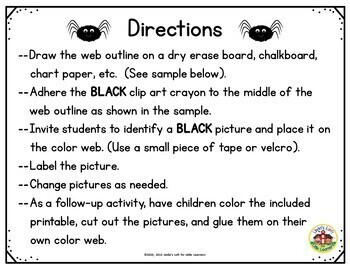 Color Black Picture Web Activity