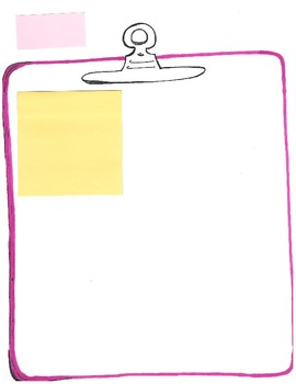 Color Blank Clipboard With Add-Ons Note Taker