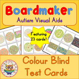 Color Blind Test Cards - Boardmaker Visual Aids for Autism SPED