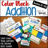 Color Block Addition - Color Coded Visual Supports for Bas